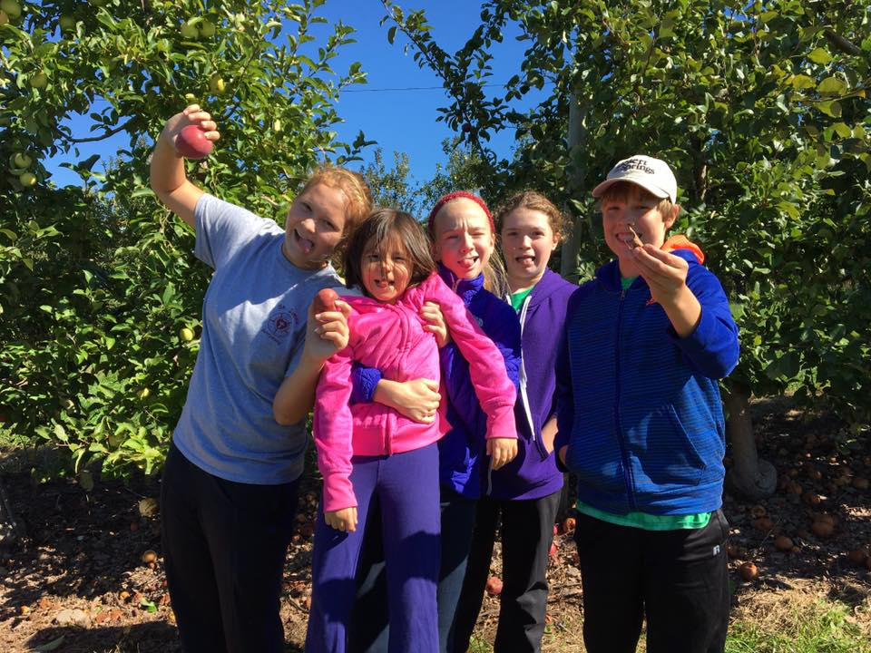 Youth Group Apple Gleaning