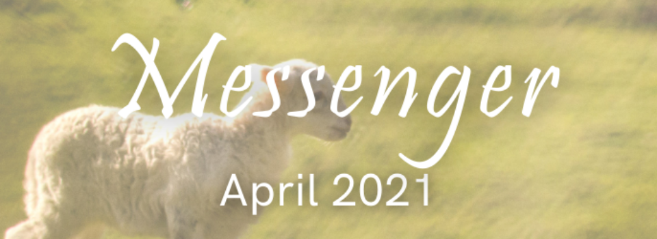 April Messenger title banner graphic