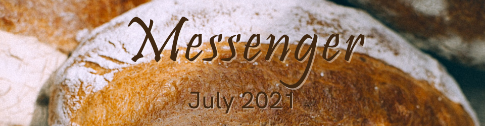 July Messenger Graphic with loaves of bread